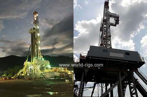 1600HP Sling Shot Skidding Triple Drilling Rig for Sale
