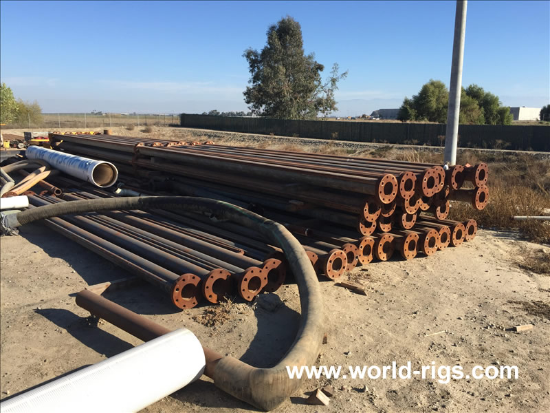 "1000 Ft of 6"" ID of Flanged Drill Pipe for Sale"